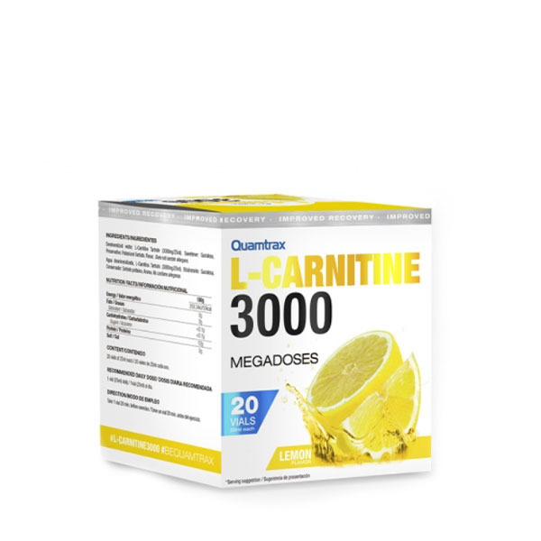 L-Carnitine 3000 20 Viales QUAMTRAX® Canary Sport