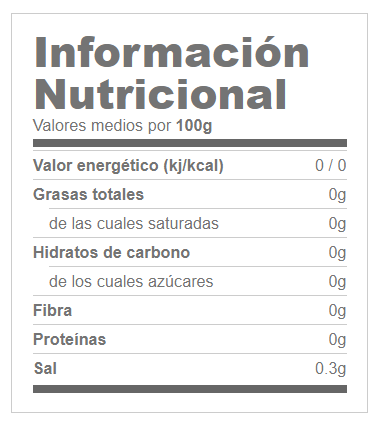 Especias Naturales 750g GOFOOD® Canary Sport