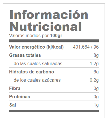 Lava Canaria Salsa Natural 350ml GOFOOD® Canary Sport