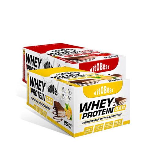 Whey Protein Bar 25 Barritas VITOBEST® Snacks Canary Sport