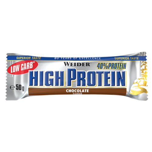 40% Protein Low Carb Bar 24 WEIDER® Alimentación Saludable Canary Sport