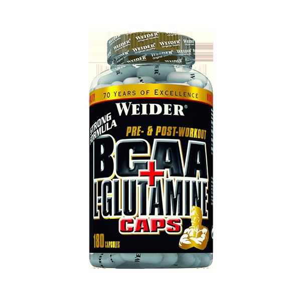 BCAA + L- Glutamina 180Caps WEIDER® Canary Sport