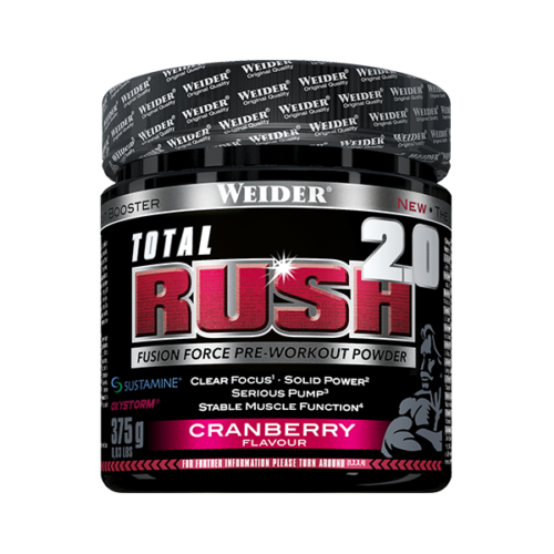 Total Rush 2.0 Cranberry 375g WEIDER® Preentreno Canary Sport